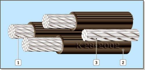 Провода самонесущие изолированные СИП-1, СИП-1А, СИП-2, СИП-2А